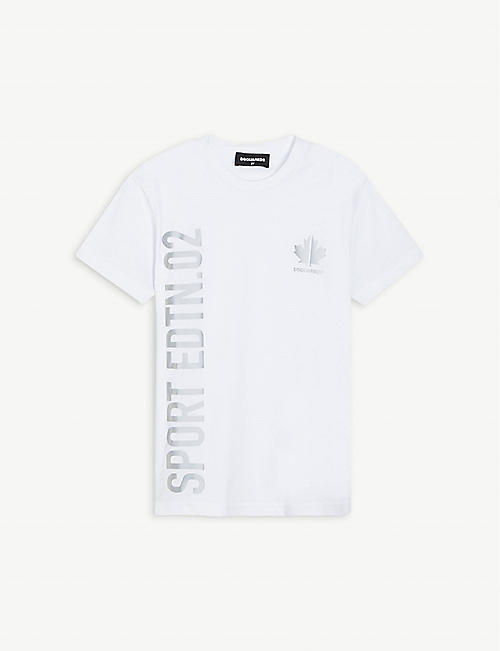 DSQUARED2: Reflective-print cotton-jersey T-shirt 4-16 years