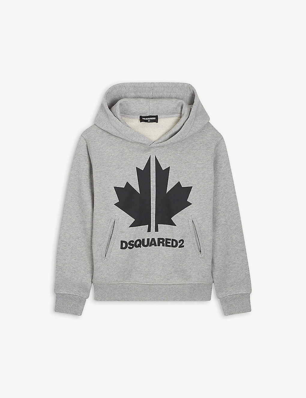DSQUARED2: Maple Leaf print cotton-jersey hoody 4-16 years