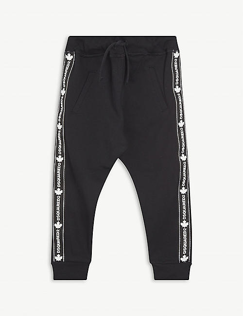 DSQUARED2: Logo-tape cotton-jersey jogging bottoms 8-16 years