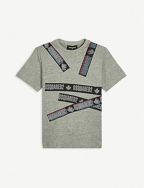 DSQUARED2: Logo-print cotton T-shirt 4-14 years