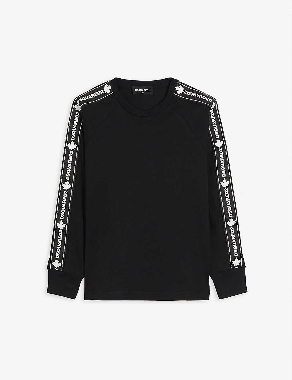 DSQUARED2: Branded long-sleeved cotton T-shirt 4-16 years