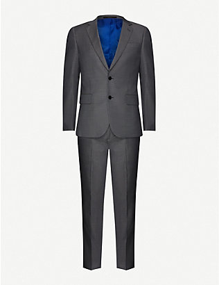 PAUL SMITH: Soho-fit houndstooth wool and mohair-blend suit