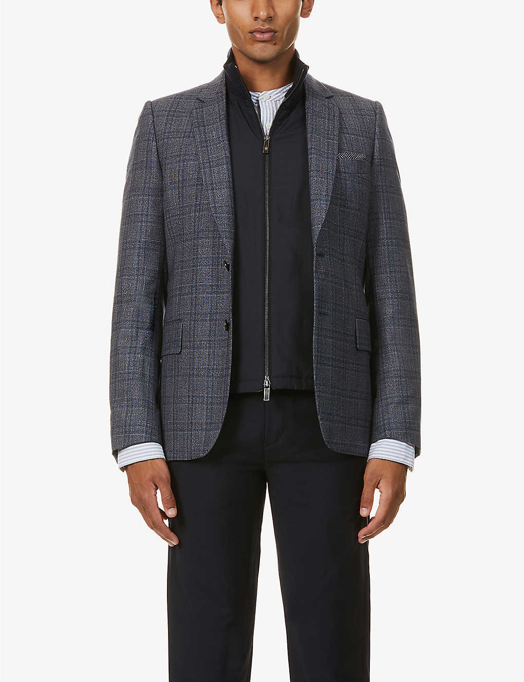 PAUL SMITH: Single-breasted wool-blend blazer