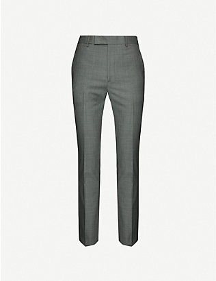PAUL SMITH: Mid-rise wool trousers