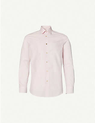 PAUL SMITH: Long-sleeved tailored-fit cotton shirt