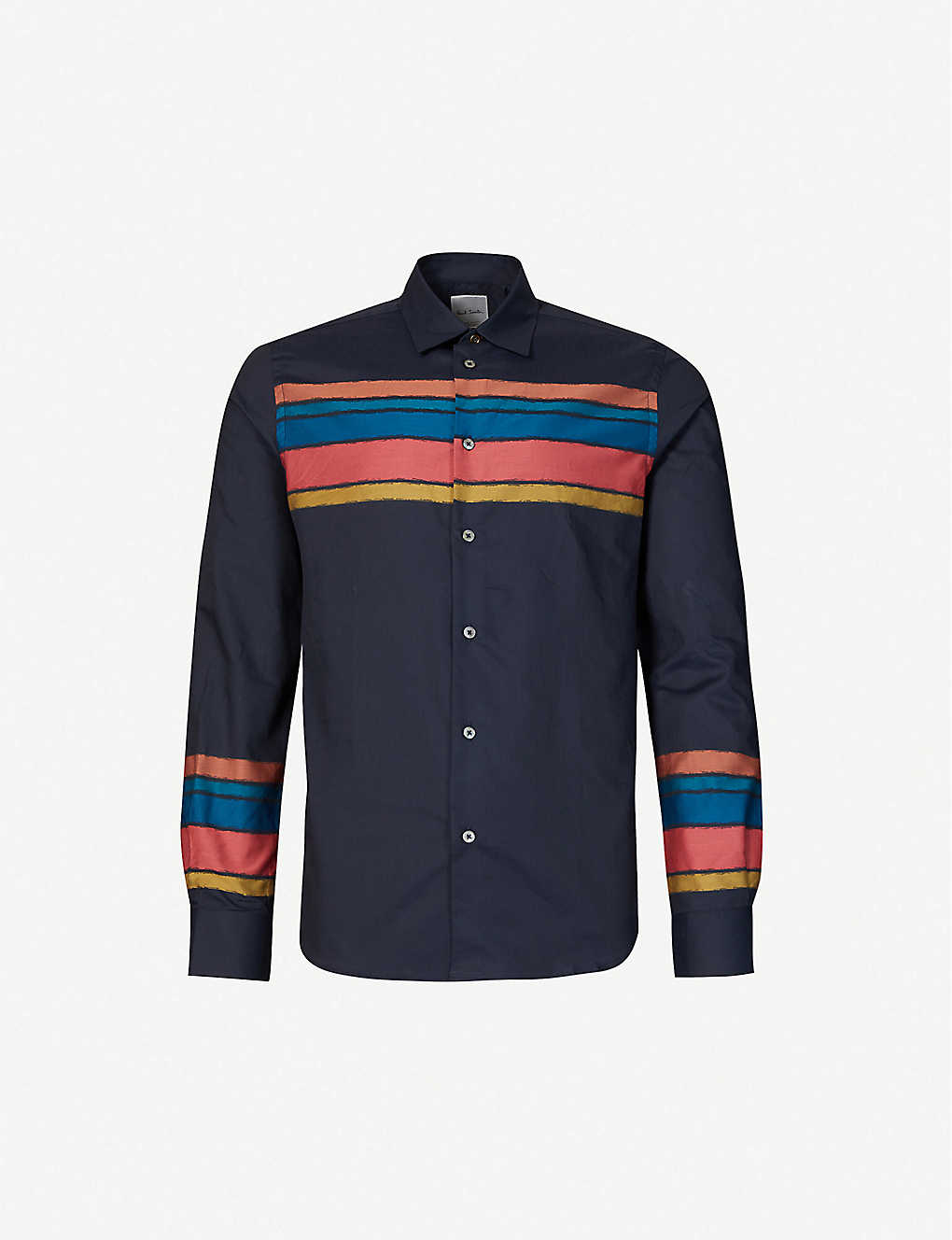 PAUL SMITH: Striped relaxed-fit cotton-poplin shirt