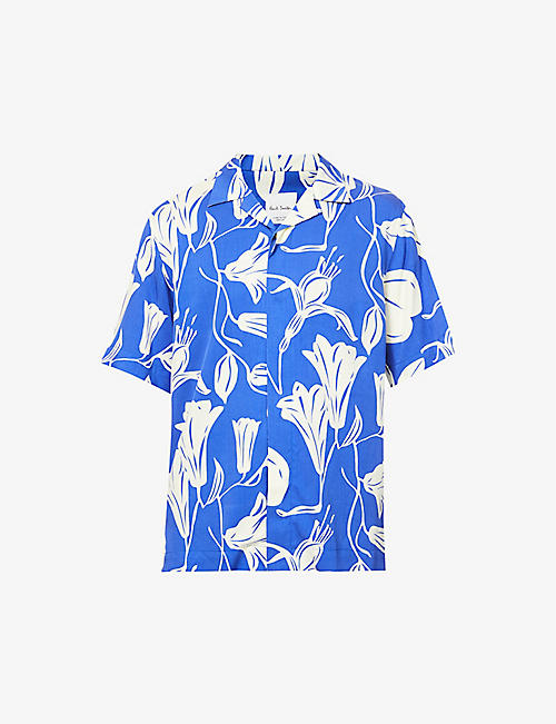 PAUL SMITH: Graphic-print casual-fit woven shirt
