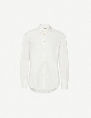 PAUL SMITH: Mini Corduroy cotton slim-fit shirt