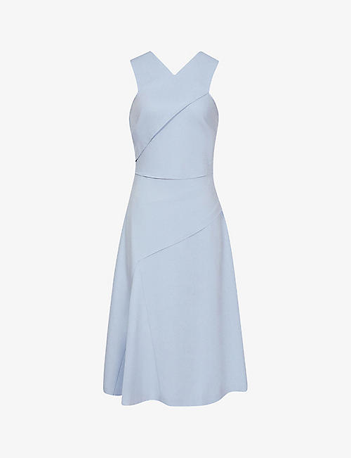 REISS: Paige woven midi dress