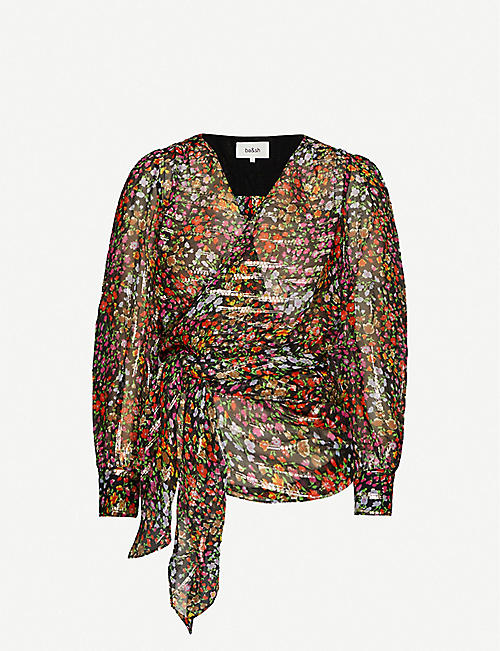 BA&SH: Flore floral-print silk-blend top