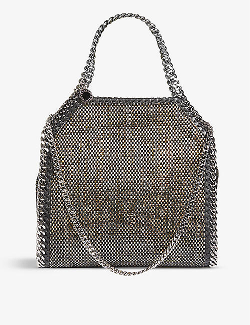 STELLA MCCARTNEY: Baby Bella mini metallic tote bag