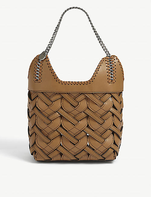 STELLA MCCARTNEY: Woven faux-leather mini tote bag