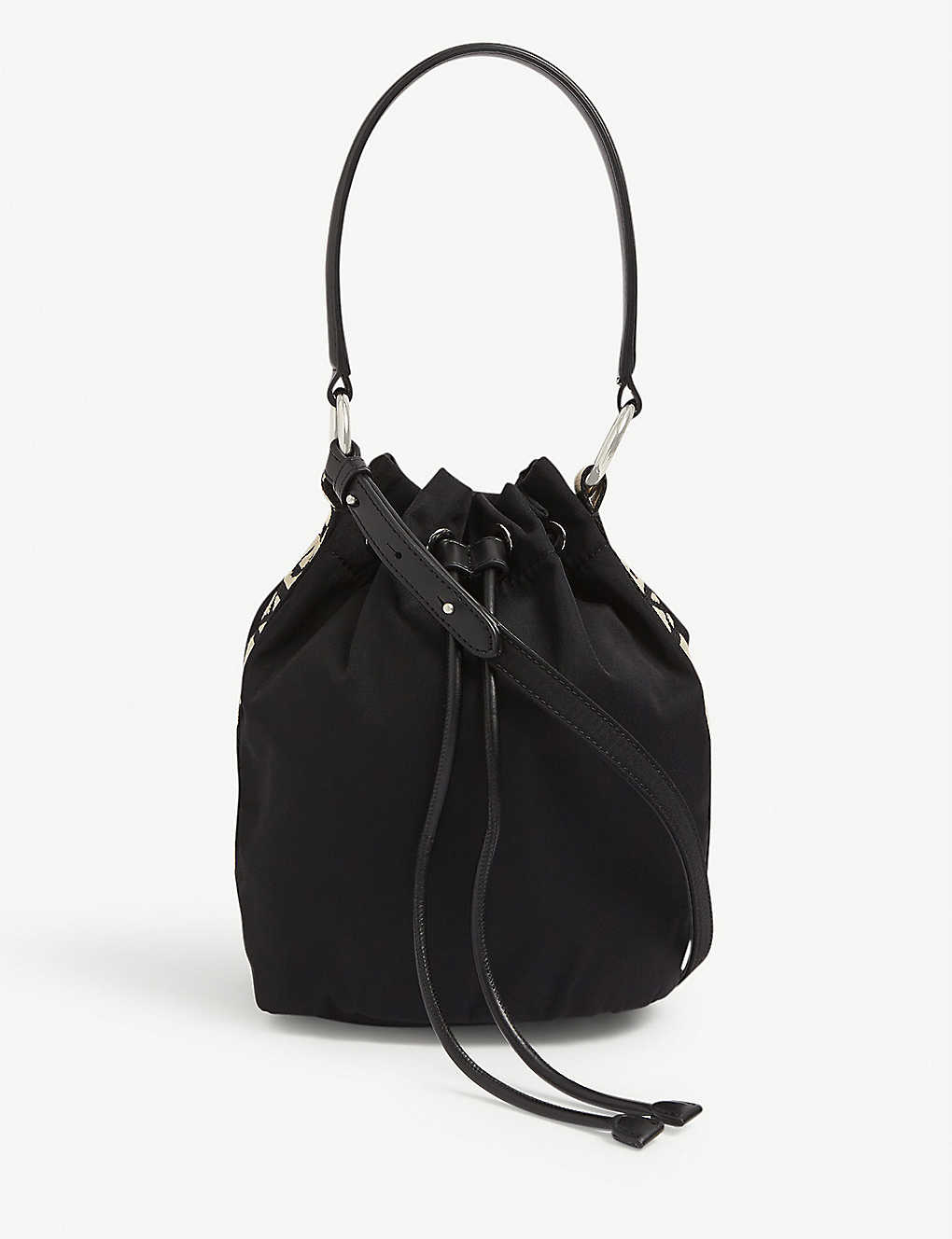 STELLA MCCARTNEY: Logo-print nylon bucket bag