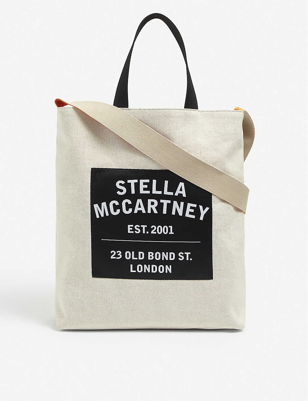 STELLA MCCARTNEY: Brand-print cotton-canvas tote bag
