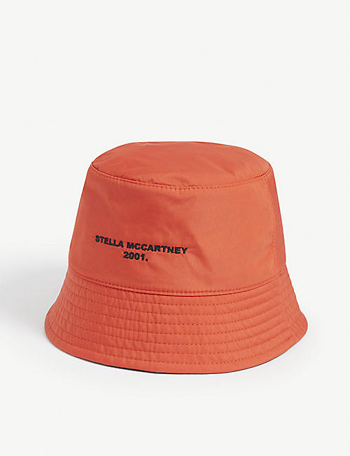 STELLA MCCARTNEY: Logo-embroidered reversible woven bucket hat