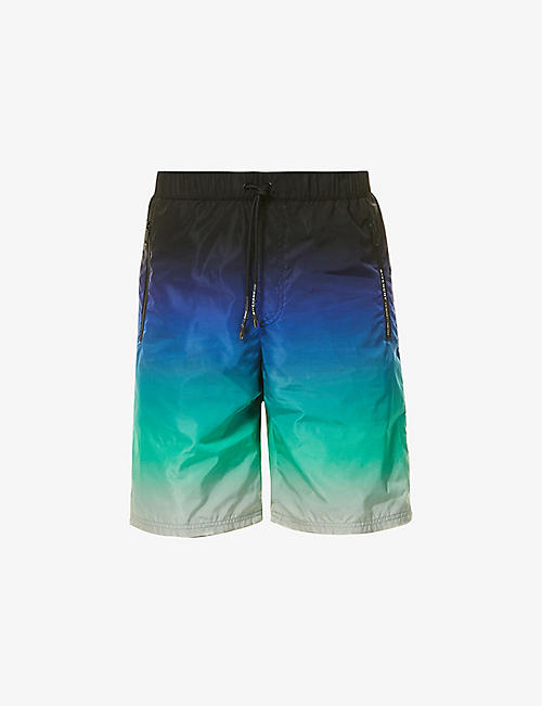 GIVENCHY: Tie-dye straight shell shorts<BR/><BR/>Tie-dye straight shell shorts
