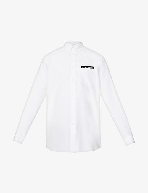 GIVENCHY: Brand-tape casual-fit cotton shirt