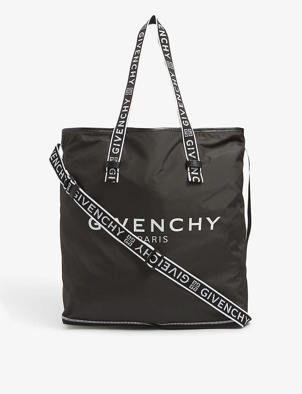 GIVENCHY: Foldable nylon tote bag