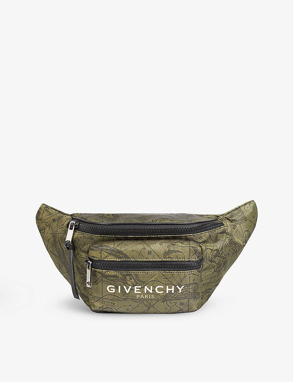 GIVENCHY: Astro Flower printed shell belt bag