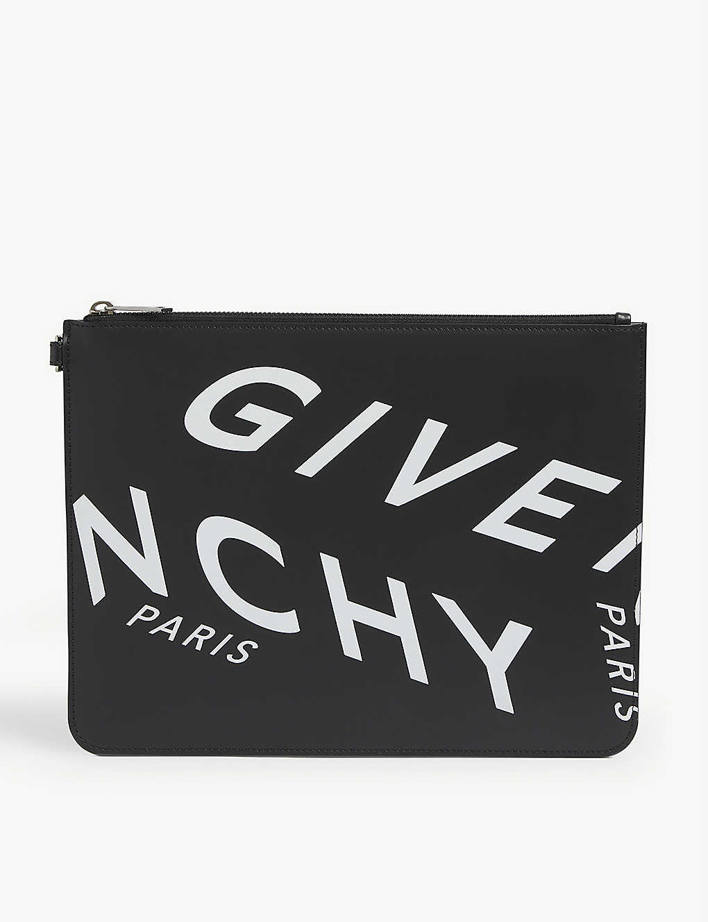 GIVENCHY: Refracted logo-print leather pouch