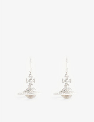 VIVIENNE WESTWOOD JEWELLERY: Sorado relief bas orb earrings