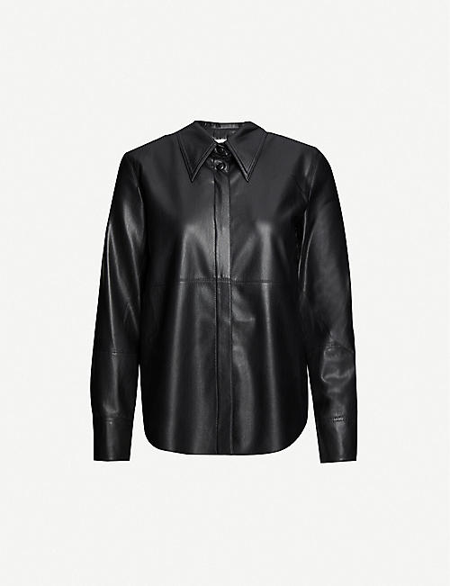 NANUSHKA: Naum vegan-leather shirt