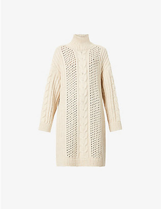 NANUSHKA: Diya oversized knitted jumper
