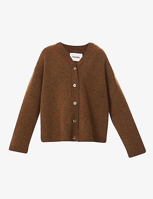 NANUSHKA: Eder V-neck knitted cardigan
