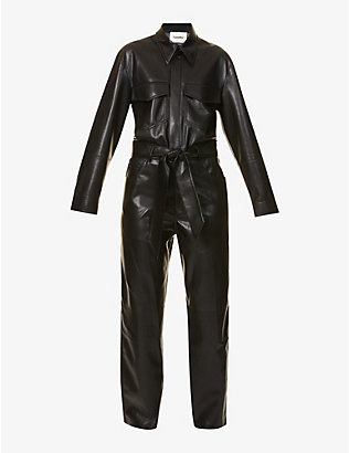 NANUSHKA: Ashton faux-leather jumpsuit