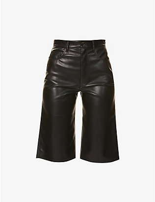 NANUSHKA: Nampeyo faux-leather shorts