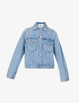 NANUSHKA: Maren cropped denim jacket