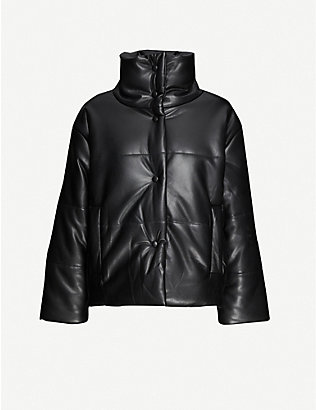 NANUSHKA: Hide vegan-leather puffer jacket