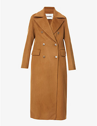 NANUSHKA: Lana double-breasted wool-blend coat