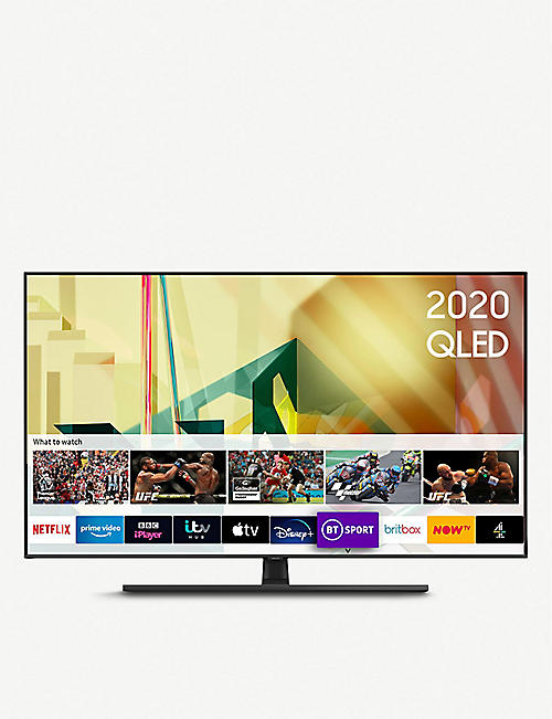 "SAMSUNG: 2020 55"" Q70T QLED 4K Quantum HDR Smart TV with Tizen OS"