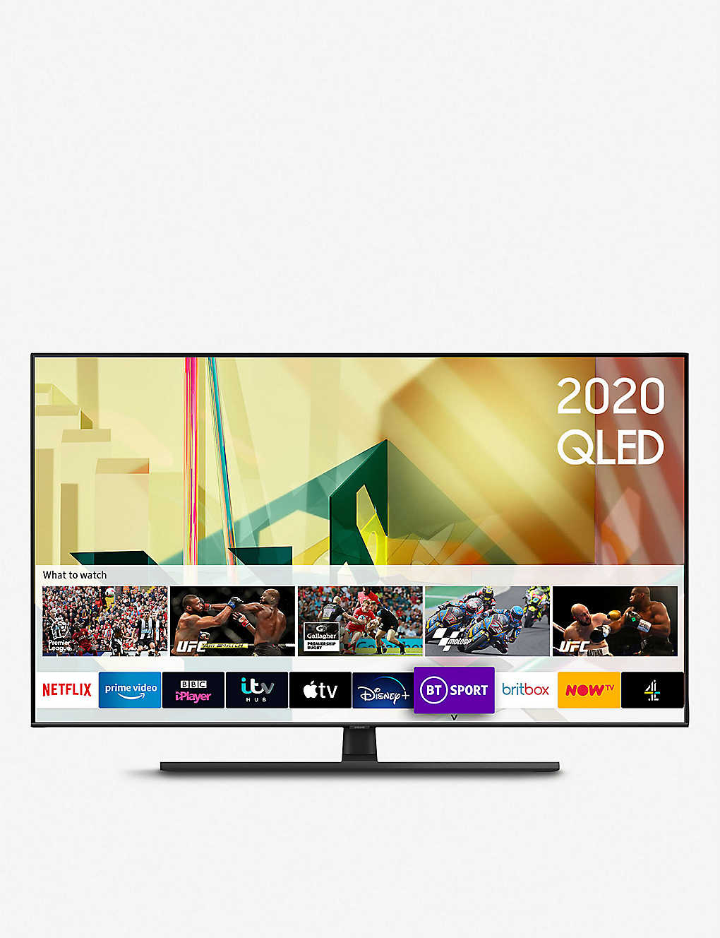 "SAMSUNG: 2020 75"" Q70T QLED 4K Quantum HDR Smart TV with Tizen OS"