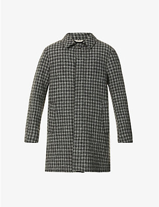 ASPESI: Checked wool coat