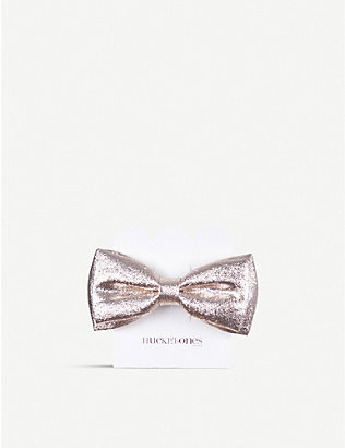 HUCKLEBONES: Metallic bow hairclip