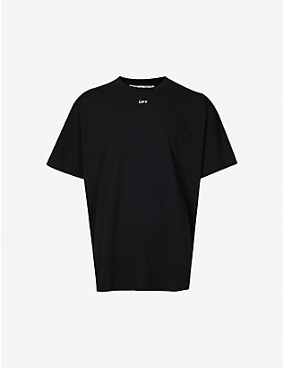OFF-WHITE C/O VIRGIL ABLOH: Graphic-print cotton-jersey T-shirt