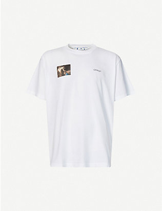 OFF-WHITE C/O VIRGIL ABLOH: Caravaggio Angel cotton-jersey T-shirt