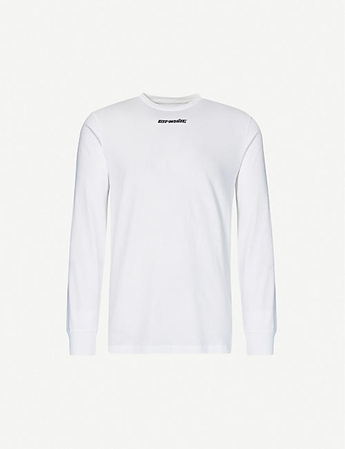 OFF-WHITE C/O VIRGIL ABLOH: Marker long sleeve cotton-jersey T-shirt