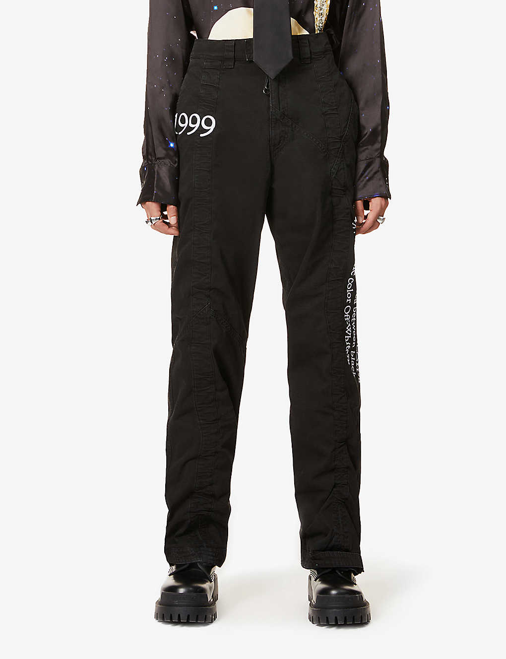OFF-WHITE C/O VIRGIL ABLOH: 1999 Contour cotton cargo trousers