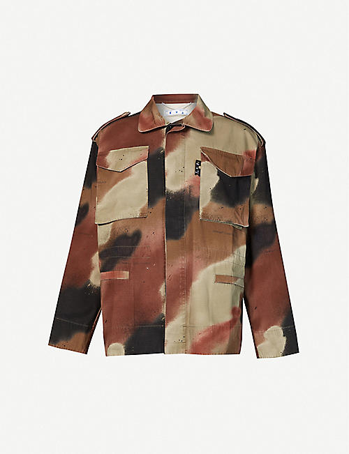 OFF-WHITE C/O VIRGIL ABLOH: Camouflage-print cotton jacket