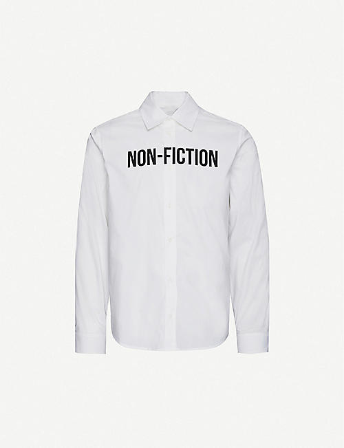 OFF-WHITE C/O VIRGIL ABLOH: Non-Fiction slim-fit cotton-blend shirt