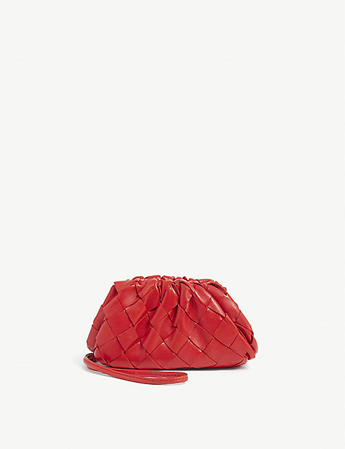 BOTTEGA VENETA: The Pouch micro intrecciato leather clutch