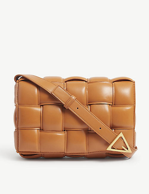 BOTTEGA VENETA: Cassette Intrecciato padded leather cross-body bag