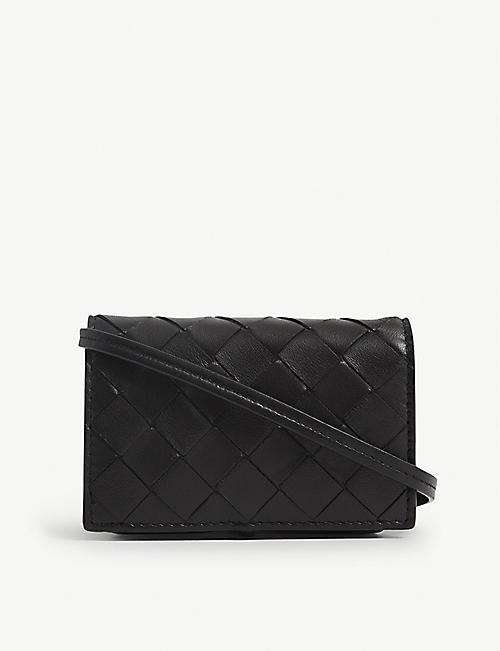 BOTTEGA VENETA: Intrecciato mini leather card holder