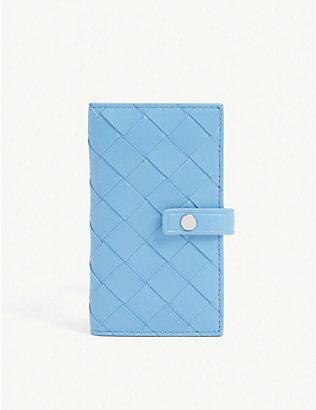BOTTEGA VENETA: Intrecciato mini leather zip wallet