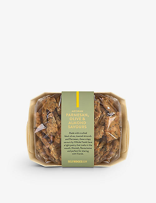 SELFRIDGES SELECTION: Artisan Parmesan, Olive and Almond Savours 120g