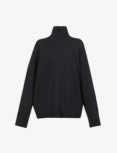LE KASHA: Turtleneck dropped-shoulder cashmere jumper