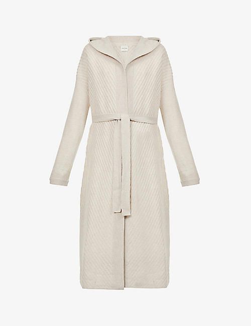 LE KASHA: Dallas hooded cashmere coat